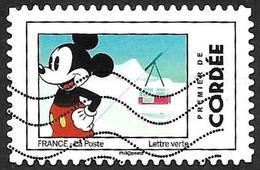 FRANCE 2018  - YT 1590 -  Mickey  - Cordée   -   Oblitéré - Adhésifs (autocollants)