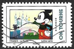 FRANCE 2018  - YT 1591 -  Mickey  - On Tourne   -   Oblitéré - Adhésifs (autocollants)