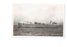 """Cpa - Bateau De GUERRE - L.S.T. CHELIFF - K08 - Marins - """"parti De Tonkin Rafiot De Haiphong 1955 Saigon """" - Guerre"""