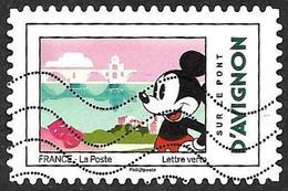 FRANCE 2018  - YT 1585 -  Mickey  - D'Avignon    -   Oblitéré - Adhésifs (autocollants)