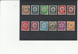 Deutsches Reich - Dienst, Gestempelt 132/143  - Satz - Officials