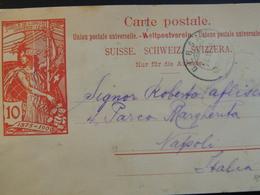 Svizzera- 1900- Biglietto Postale UPU Viaggiato - Entiers Postaux