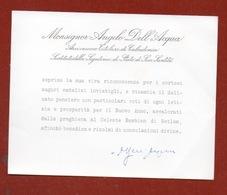 CARDINALE  ANGELO DELL'ACQUA  BIGLIETTO PERSONALE CON FIRMA AUTOGRAFA - Autographs