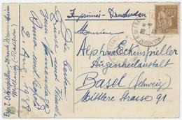 N°363 Y.T. Seul Sur Lettre Mulhouse R.de France - Marcophilie (Lettres)
