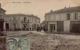 13 SAINTE MARTHE  CAFE RIGAUD  ATTELAGE - France