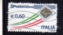 ITALIA REPUBBLICA ITALY REPUBLIC 2009 POSTA ITALIANA POSTE ITALIANE € 0,60 USATO USED OBLITERE' - 6. 1946-.. Repubblica