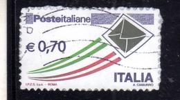 ITALIA REPUBBLICA ITALY REPUBLIC 2009 2015 POSTA ITALIANA POSTE ITALIANE € 0,70 USATO USED OBLITERE' - 6. 1946-.. Repubblica