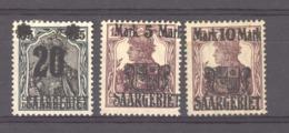 Sarre  :  Mi  50-52  *      ,   N2 - 1920-35 League Of Nations