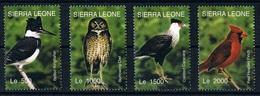 Serie Set Oiseaux Birds  Neuf  MNH ** Sierra Leone 2004 - Birds