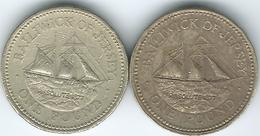 Jersey - Elizabeth II - 1 Pound - 1994 (KM91) & 1998 (KM101) - Jersey
