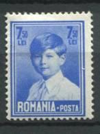 Roumanie 1928 Mi. 327 Neuf * 100% 7,50 L, King Michael I - 1918-1948 Ferdinand, Carol II. & Mihai I.