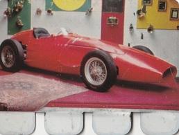 """Plaquette Collection """"L'Auto à Travers Les âges"""" : Maserati De Fangio 1956 - Plaques En Tôle (après 1960)"""