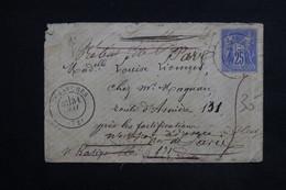 FRANCE - Enveloppe De Luzarches Pour Paris Et Redirigée Plusieurs Fois 1877, Voir Au Dos Le Nombres De Cachets - L 23485 - Marcophilie (Lettres)