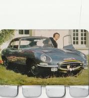 """Plaquette Collection """"L'Auto à Travers Les âges"""" : Jaguar Type E - Plaques En Tôle (après 1960)"""