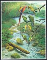 Serie Set Oiseaux Perroquets Birds Parrots Neuf  MNH ** Guyana 1999 - Birds