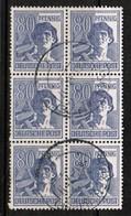 GERMANY  Scott # 572 VF USED BLOCK Of 6 (Stamp Scan # 455) - [7] République Fédérale