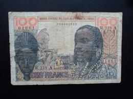 CÔTE D'IVOIRE : 100 FRANCS   ND Signature 4    P 101Af     TB - Côte D'Ivoire