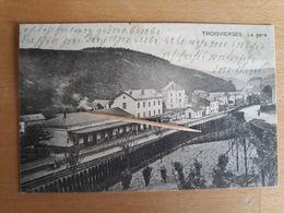 TROISVIERGES - La Gare ( Timbre AMBULANT, Carte Codée, Recto Verso ) - Troisvièrges