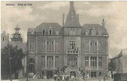 Halanzy: Travaux Devant L'Hôtel De Ville - Carte Animée - Aubange