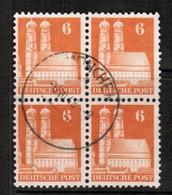 GERMANY  Scott # 638 VF USED BLOCK Of 4 (Stamp Scan # 455) - [7] République Fédérale