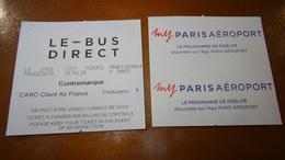 Bus Ticket From FRANCE - Paris - LeBus - Fahrkarte - Transportation