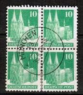 GERMANY  Scott # 641 VF USED BLOCK Of 4 (Stamp Scan # 455) - [7] République Fédérale