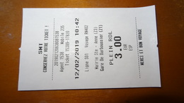 Bus Ticket From GUADELOUPE - St. Anne To Point A Pitre - Karulis Bus - Fahrkarte - Zonder Classificatie