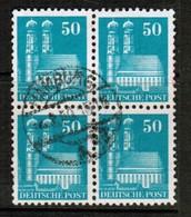 GERMANY  Scott # 653 VF USED BLOCK Of 4 (Stamp Scan # 455) - [7] République Fédérale