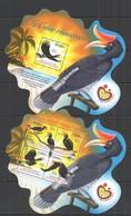 QQ638 2014 GUINEE GUINEA FAUNA BIRDS LE CALAO RHINOCEROS  KB+BL MNH - Birds