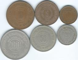 Jordan - Abdullah - 1949 - 1, 5, 10, 20, 50 & 100 Fils (KMs 2-7) - Jordanie