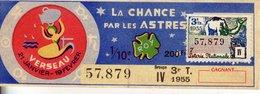 France - 400 - La Chane Par Les Astres Verseau - 3 ème Tranche 1955 - Loterijbiljetten