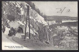 Yverdon - Ste. Croix Tunnel De Covatannaz - Train à Vapeur - Dampflok - 1910 - VD Vaud