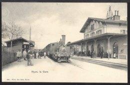 Nyon La Gare - Bahnhof - Zug - Train à Vapeur - Dampflok - VD Vaud