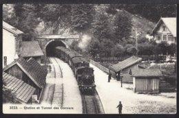 Station Et Tunnel Des Convers - La Gare - Bahnhof - Train à Vapeur - Dampflok  - 1921 - NE Neuchâtel