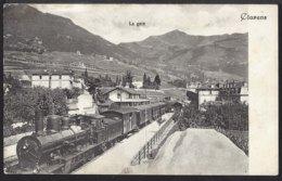 Clarens - La Gare - Bahnhof - Zug - Train à Vapeur - Dampflok - 1910 - VD Vaud