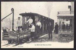 La Gare De Caux En Hiver - Bahnhof Im Winter - Bahn - Chemin De Fer - 1907 - VD Vaud