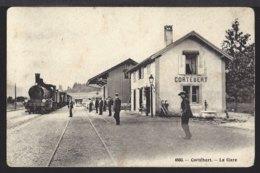 Cortébert  - Bahnhof - La Gare - Train à Vapeur - Dampflok - Belebt - Animée - 1910 - BE Berne