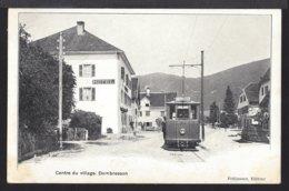 Dombresson - Tram - Tramway - Centre Du Village - Belebt - Animée -1907 - NE Neuchatel
