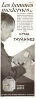 """PUB MONTRES  """" TAVANNES  """" De  """" CYMA """"   1930  ( 1 ) - Jewels & Clocks"""