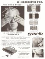 """PUB MONTRES ERMETO De """" MOVADO """"   1930  ( 19 ) - Jewels & Clocks"""