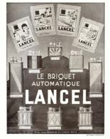 """PUB BRIQUETS   """" LANCEL """"   1930  ( 1 ) - Briquets"""