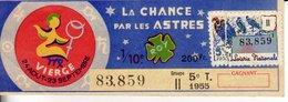 France - 401 - La Chance Par Les Astres Vierge - 5 ème Tranche 1955 - Loterijbiljetten