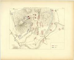 Bataille De HASTENBECK 26 Juillet 1757 Guerre De Sept Ans Plan - Mappe