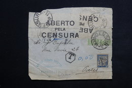 PORTUGAL - Enveloppe ( Devant ) De Estremoz Pour Paris , Taxé , Bande De Contrôle Postal - L 23494 - Lettres & Documents