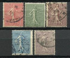 France 1903 Yv. 129-133 Oblitéré 100% Semoir - Frankreich