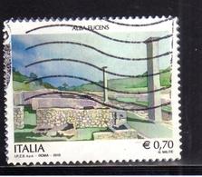 ITALIA REPUBBLICA ITALY REPUBLIC 2013  PATRIMONIO ARTISTICO E CULTURALE ITALIANO ALBA FUCENS USATO USED OBLITERE' - 6. 1946-.. Repubblica