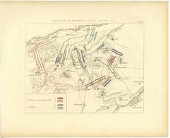 Bataille De ROSSBACH 5 Novembre 1757 Guerre De Sept Ans Plan - Mappe