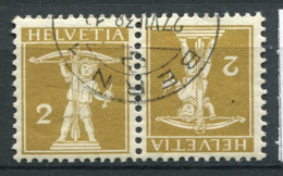 Suisse 1909 Mi. K4 Oblitéré 100% 111, 2C - Kehrdrucke