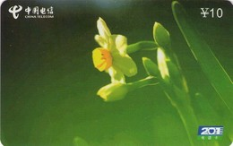TARJETA TELEFONICA DE CHINA. FLORES - FLOWERS. HY-T44(2-1). (376) - Flores
