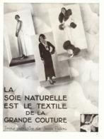"""PUB   3 MODELES De  """" JEAN PATOU """"   1930  ( 1 ) - Fashion"""
